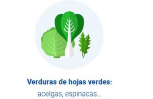 Ilustración de verduras de hojas verdes